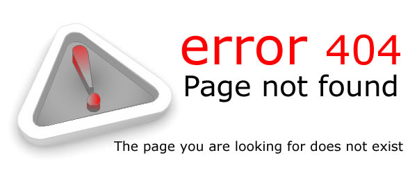 error 404 – Page not found – The page you are looking for does not exist